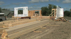 Stock Video Footage of House Construction