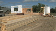 House Construction Stock Footage