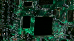 Electronic Circuit Board Stock Footage
