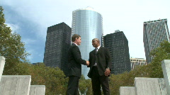 Corporate Handshake (2 of 3) Stock Footage