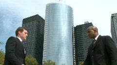 Corporate Handshake (1 of 3) - stock footage
