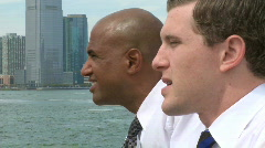 Waterfront conversation (1 of 2) Stock Footage