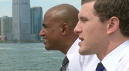Stock Video Footage of Waterfront conversation (1 of 2)