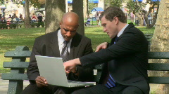 Meeting at the park (1 of 7) - stock footage