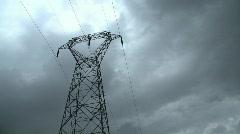 Electricity pylon timelapse Stock Footage