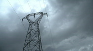 Electricity pylon timelapse Stock Footage