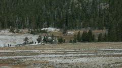 Yellowstone Old Faithful basin Pan P HD 2737 Stock Footage