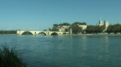Pont d'Avignon in France Stock Footage