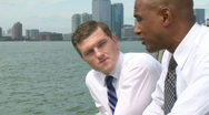Stock Video Footage of Waterfront conversation (2 of 2)