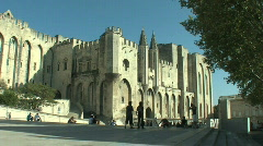 "The ""Palais des Papes"" in Avignon France 4 - stock footage"