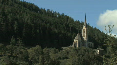 Church on a hill in Austria, Europe Stock Footage