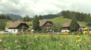 Austrian homes in a small town in Austria, Europe Stock Footage