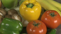 Fruits Vegetables pan R2L 2 Stock Footage