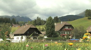 Stock Video Footage of Gorgeous Austrian Alps Countryside in Austria, Europe