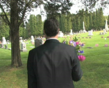 Walking in Cemetery 4 PAL Stock Footage