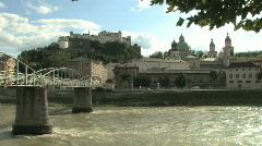 Salzburg skyline in Austria, Europe - stock footage