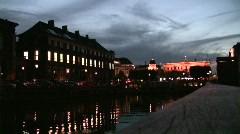 Kongens Nytorv seen from Nyhavn - stock footage