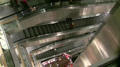 Department Store Escalators Stock Footage