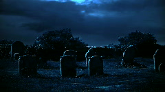 Blue Hunted Cemetery - stock footage