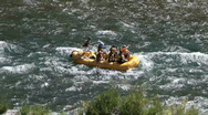 Stock Video Footage of Snake River rubber raft rapids P HD 3446
