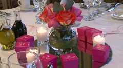WEDDING TABLE 4 Stock Footage