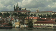 Prague Skyline, Czech Republic Stock Footage