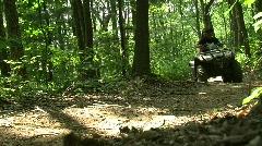 ATV Trail Riding c Stock Footage