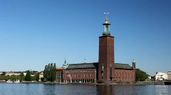 stockholm city hall - stock footage