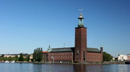 Stock Video Footage of stockholm city hall