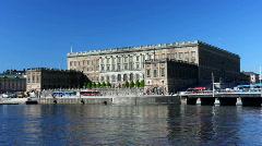 Stockholm castle Stock Footage