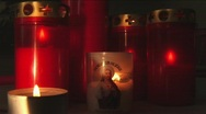 Candle lights Stock Footage
