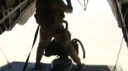 Tail Gunner Fires .50 Caliber Machine Gun Stock Footage