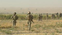 Special Forces waking away (HD)c - stock footage