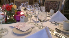 WEDDING TABLE 3 Stock Footage