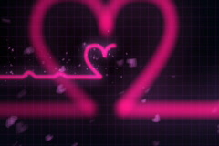Heartbeats of Love Fly-through (NTSC, Loopable) Stock Footage