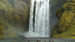 Skogafoss waterfall Iceland Stock Footage