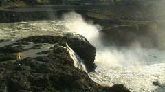 Dynkur waterfall, Iceland Stock Footage