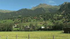 Scenic Swiss Countryside in Switzerland, Europe Stock Footage