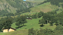Scenic Swiss Countryside in Switzerland, Europe Stock Footage