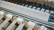 Fabric manufacture 5 Stock Footage