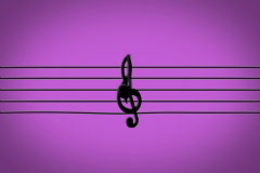 Colorful Jumping Musical Notes NTSC Stock Footage