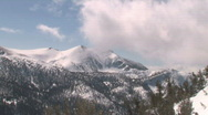 Snow Covered Rocky Mountains in Lake Tahoe Stock Footage