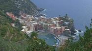 Cinque terre, Italy Stock Footage