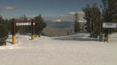 Black diamond ski slope in Lake Tahoe Stock Footage