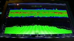 Stock Video Footage of Audio analyzer