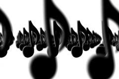 Marching Musical Notes White NTSC  Stock Footage