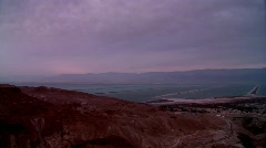 Sunrise over the dead sea Stock Footage