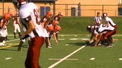 High school football, #29 QB handoff TD Stock Footage