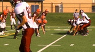 High school football, #29 QB handoff TD Stock Footage
