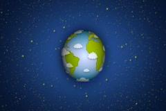Cartoon Earth NTSC Stock Footage
